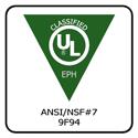 UL ANSI/NSF #7 9F94